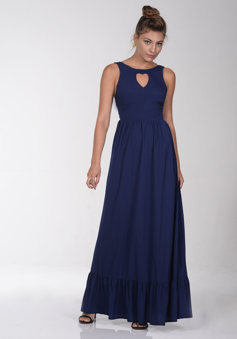 Navy chandelier dress - שמלת שנדליר נייבי
