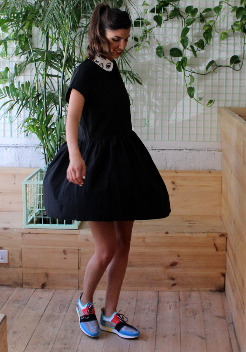 Black Mickey Mouse goldie Dress -  שמלת גולדי מיקי מאוס