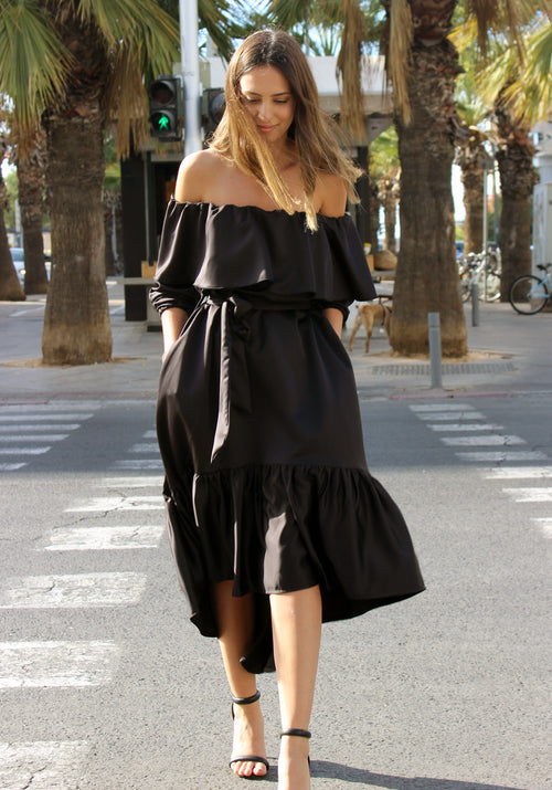 Black Sis dress - שמלת סיס שחורה