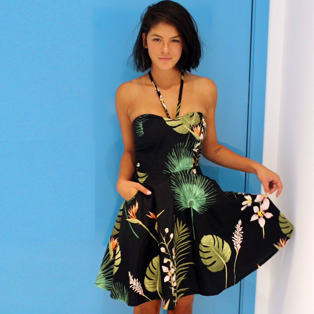 Tropic Lory dress - שמלת לורי טרופי שחור