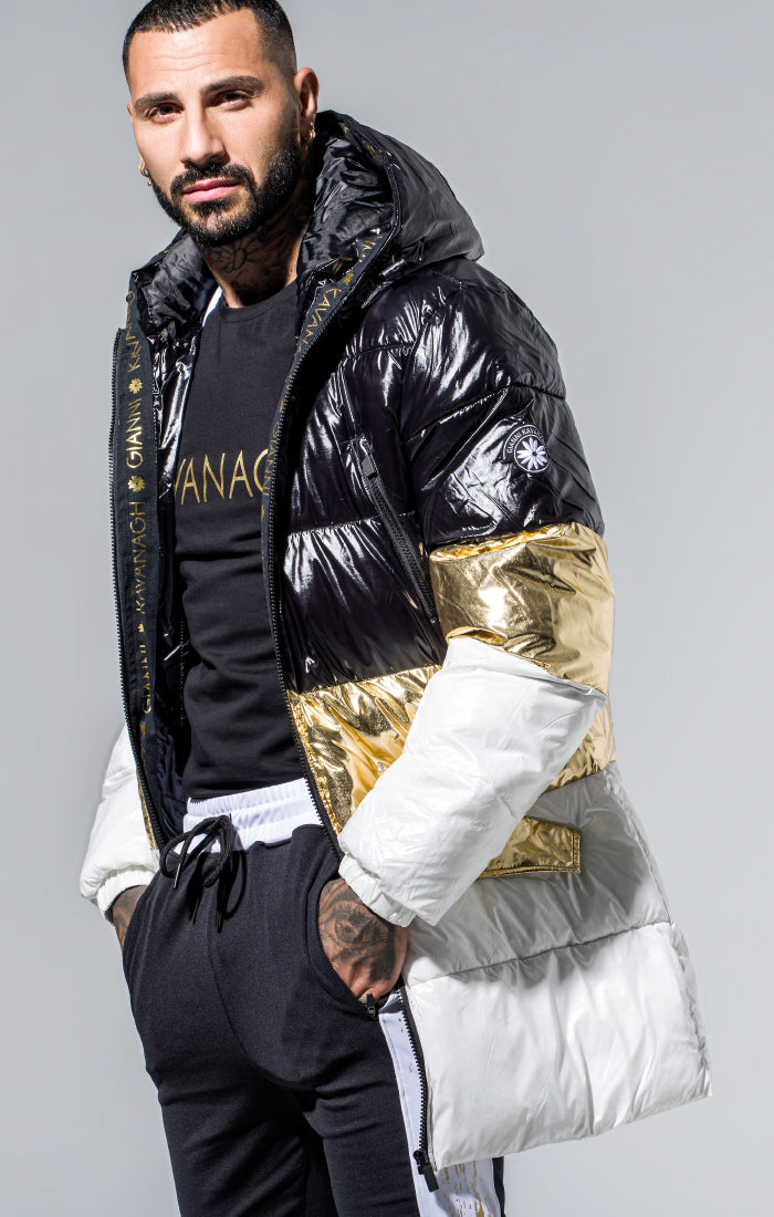 Black/Gold/White Gk Glaciar Down Coat