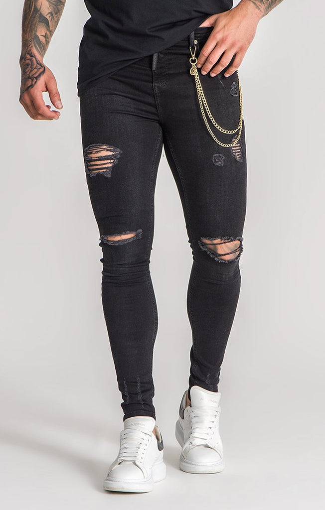 Black Jeans With Gold Chains Jeans Gianni Kavanagh Men Ub Online Store