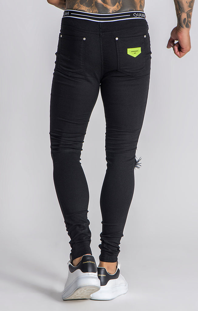 Black Neon Reaction Jeans