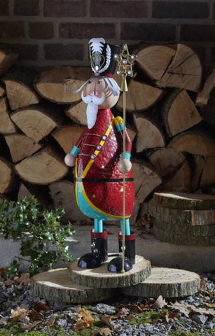 Polka Parade XL Christmas Decoration Hand painted Metal Parade 60cm tall