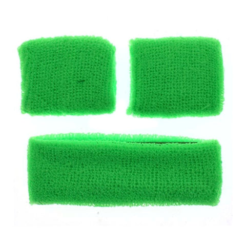 Green Neon Sweat Band Pack