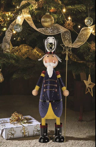 Polka Nutcracker Christmas Decoration Hand painted Metal nutcracker 43 cm tall