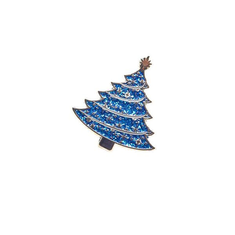 Blue Tree Light up a Life Pin Badge