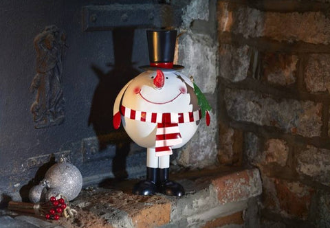 Wibbly Wobbly Snowman Metal Christmas Ornament Christmas Decoration 24 cm tall