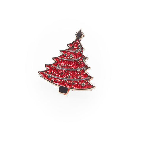 Red Tree Light up a Life Pin Badge