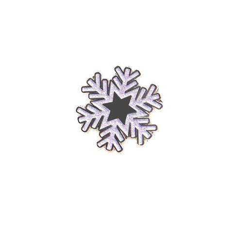 White Snowflake Light up a Life Pin Badge