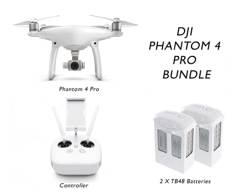 Phantom 4 Pro Obsidian Bundle - 2 Extra Batteries - GoUAV