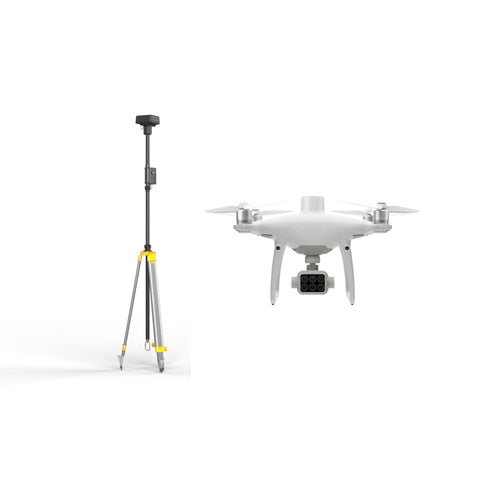 DJI P4 Multispectral Survey Drone + D-RTK 2 High Precision GNSS Mobile Station Combo