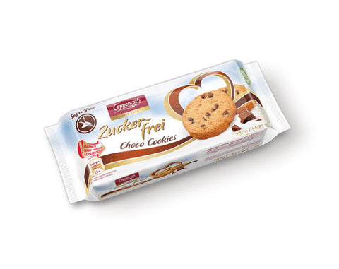 COPPENRATH SUGAR FREE BISCUITS 300gm choco chip - The Diabetic shop
