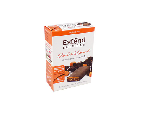 Extend Anytime Bars Chocolate & Caramel (4 Pk Carton) - The Diabetic shop