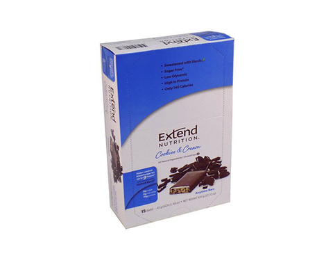 Extend Anytime Bars Cookies & Cream (4 Pk Carton)