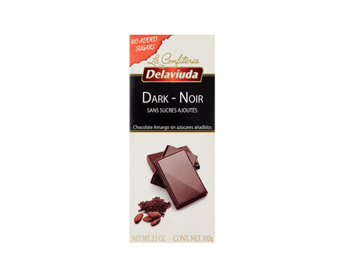 Delaviuda Bar - Sugar Free Dark Chocolate - The Diabetic shop