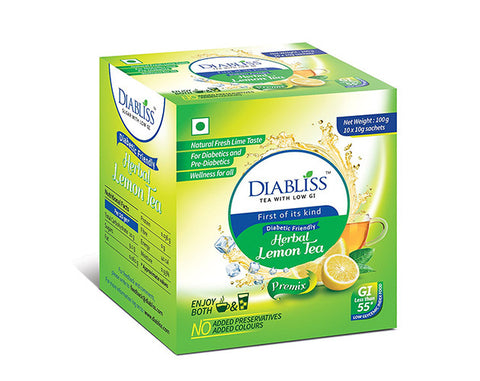 Diabliss Herbal Lemon Tea 500gm - The Diabetic shop