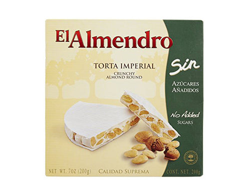 El Almendro Sugar Free Crunchy Almond Turron Round - The Diabetic shop