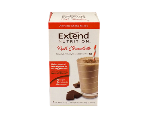 Extendshake Chocolate (5 Pk) - The Diabetic shop
