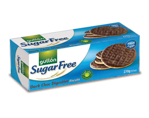 GULLON SUGAR FREE BISCUITS Dark Chocolate & Soya Biscuits