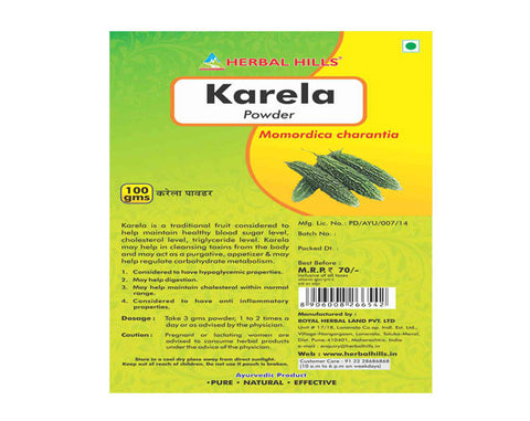 Herbal Hills KARELA PD 100G BOTT - The Diabetic shop