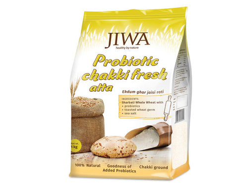 Jiwa Atta - Probiotic Chakki Fresh 1 kg - The Diabetic shop