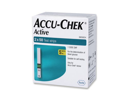Accu Chek Active 100 Blood Test Strips