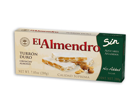El Almendro Sugar Free Crunchy Almond Turron Bar - The Diabetic shop