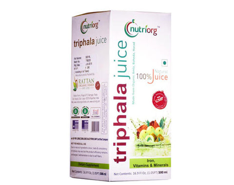 Nutriorg Triphala Juice 500ml - The Diabetic shop