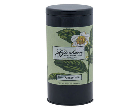 Glen Burn Tulsi Green Tea Tin  - The Diabetic shop