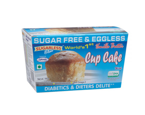 Sugarless Vanilla Cup Cake 80gm