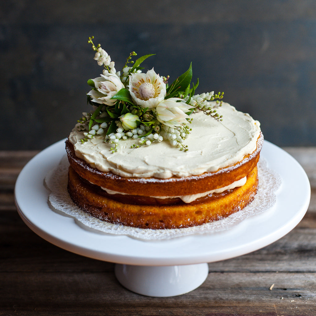 Spiced orange syrup cake & honey chamomile tea – Mother's Day treats