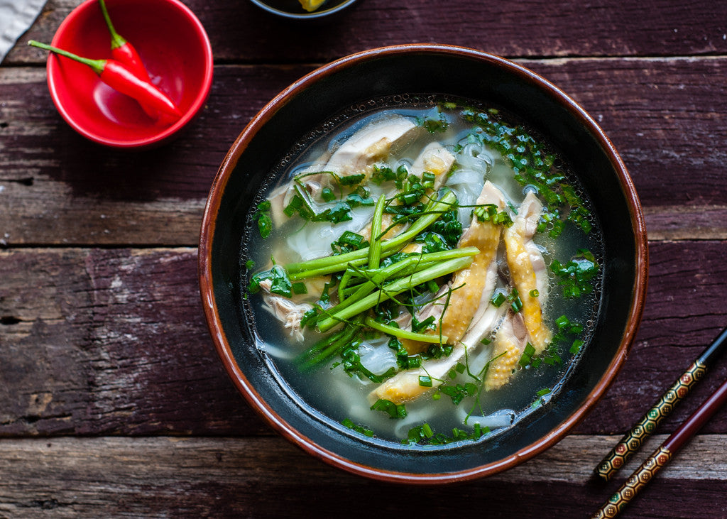 Chicken pho - Vietnamese Chicken noodle soup