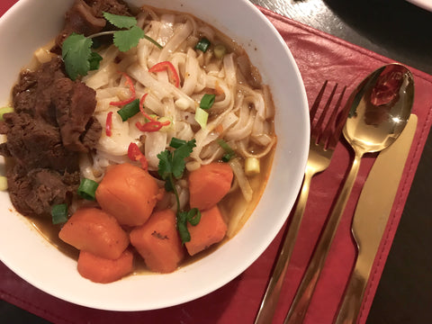 Slow-cooked beef pho