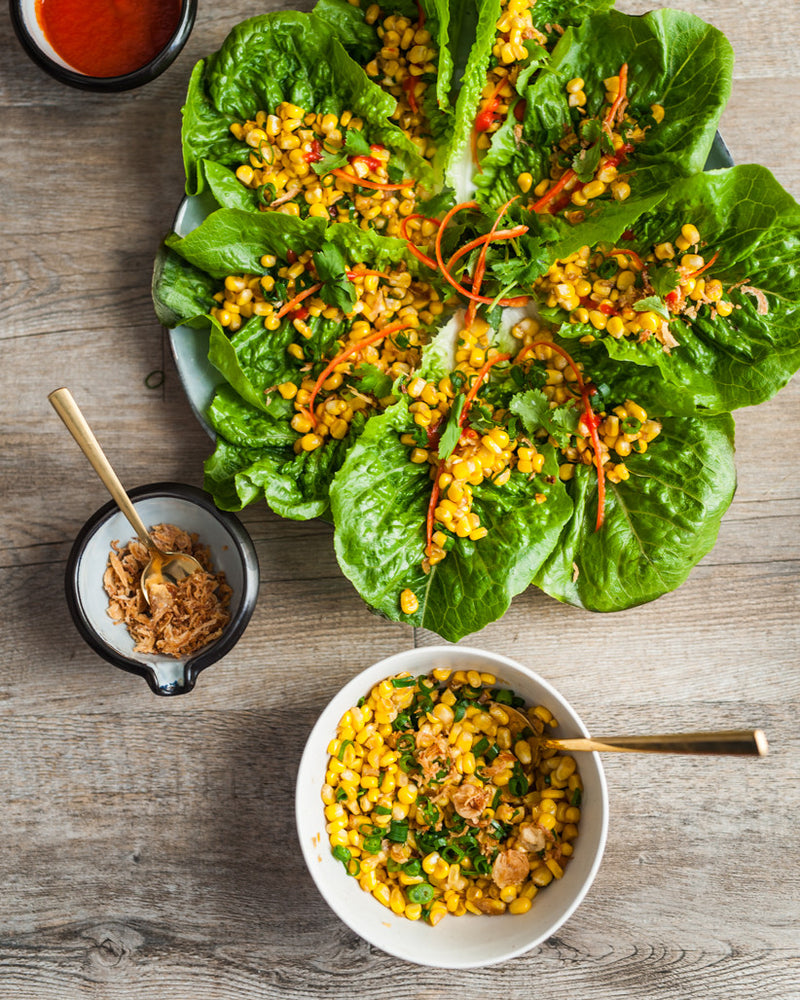 Corn Lettuce Wrap