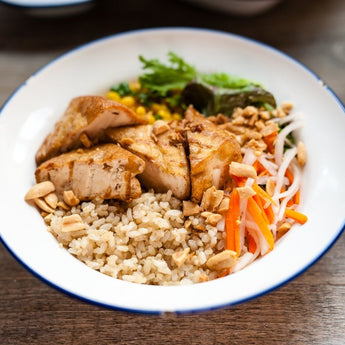 Fried Tofu Rice Bowl (Vegan, GF)