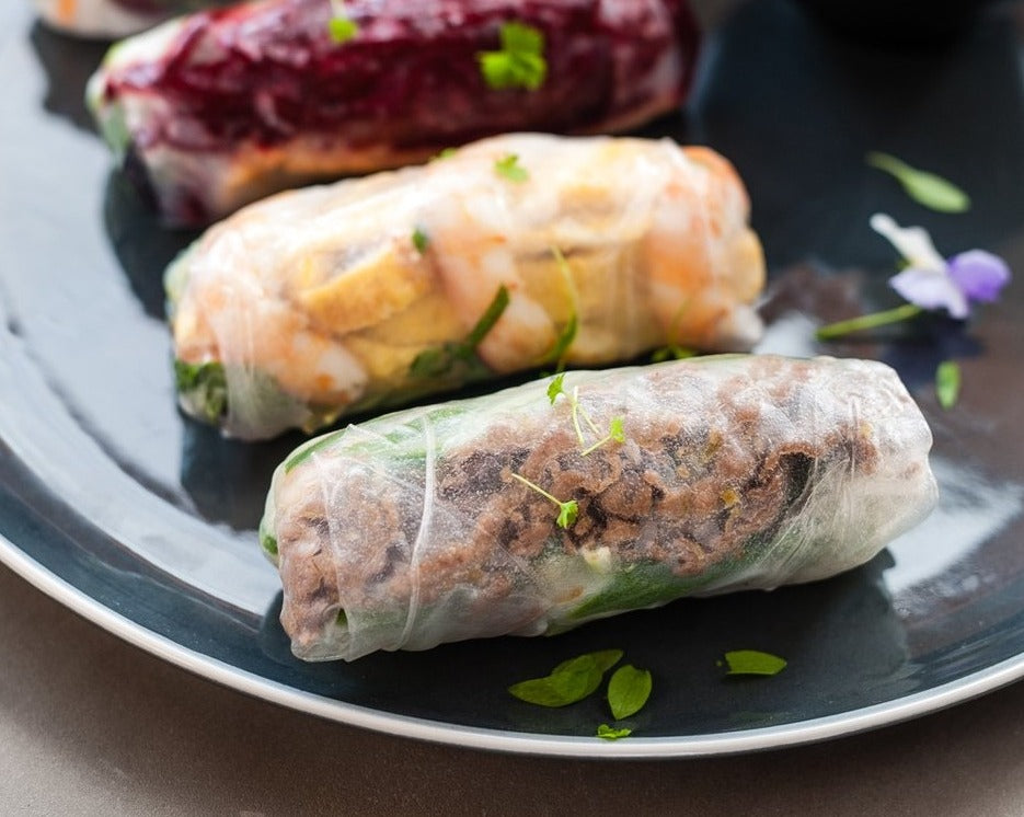Upgrade Lemongrass Beef for Rice paper rolls platter
