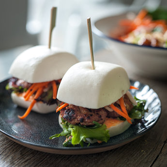 Bun Cha pork Patty Bao buns