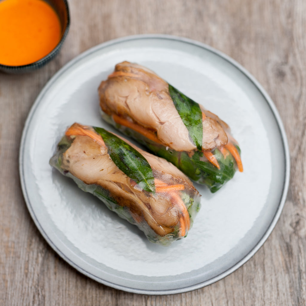 Grilled Chicken rice paper rolls (GF)