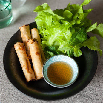 Chicken And Taro Spring Rolls