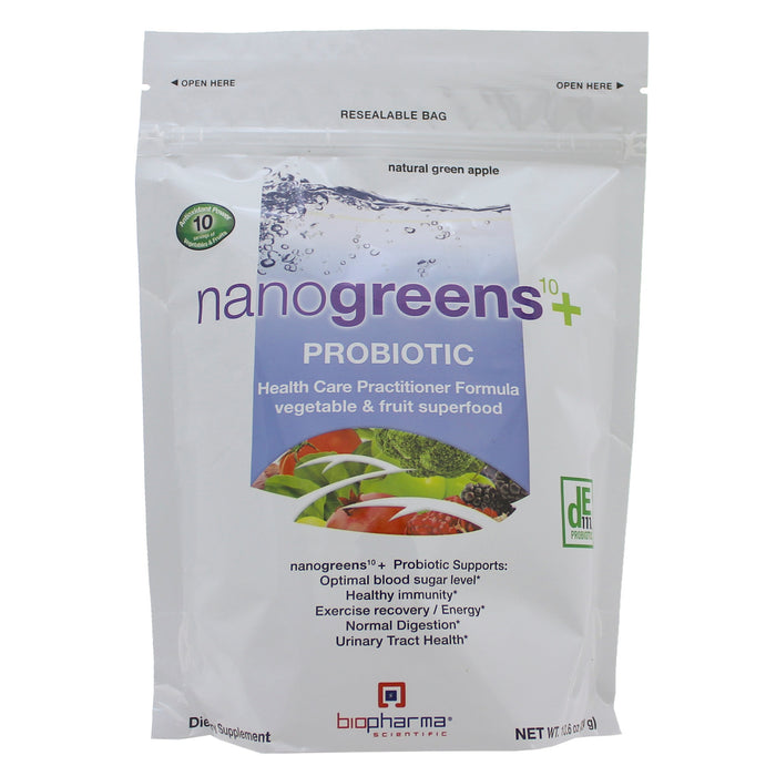 NanoGreens+ Probiotic - Green Apple - Nutriessential.com