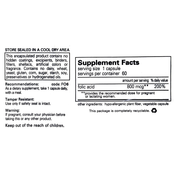 Folic Acid (Folate) by Pure Encapsulations