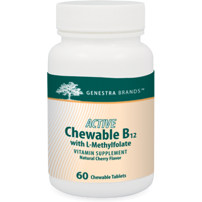 ACTIVE Chewable B12 with L Methylfolate by Genestra