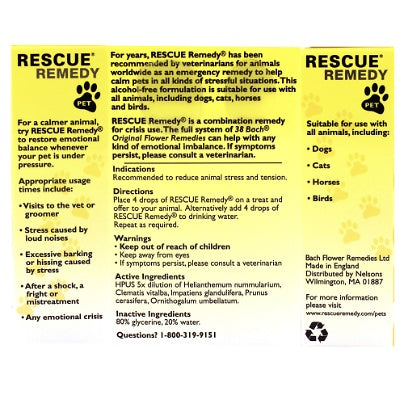 Rescue Remedy Pet - Nutriessential.com