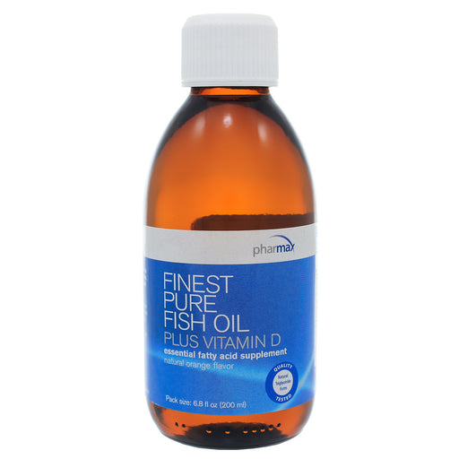 Finest Pure Fish Oil Plus D Natural Orange by Pharmax