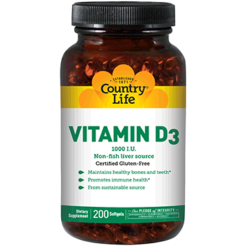 Vitamin D3 1000 - Country Life