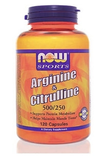 Arginine and Citrulline by Now Sports