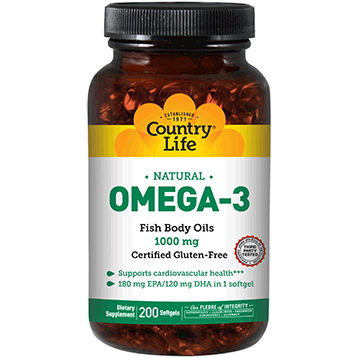 Omega 3 Fish Oil 1000 mg - Country Life