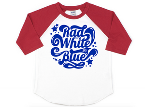 Rad white and blue
