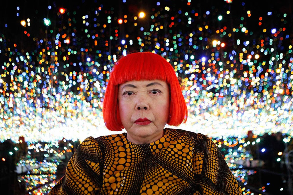 Yayoi Kusama, mental health, pottery, center pottery, studio